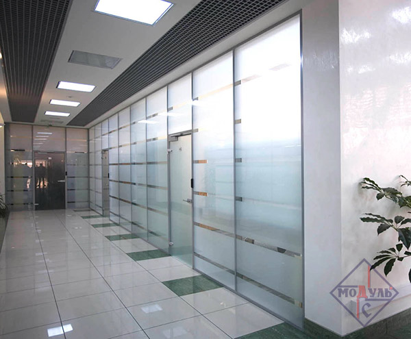 OFFICE GLASS-ALUMINUM PARTITIONS